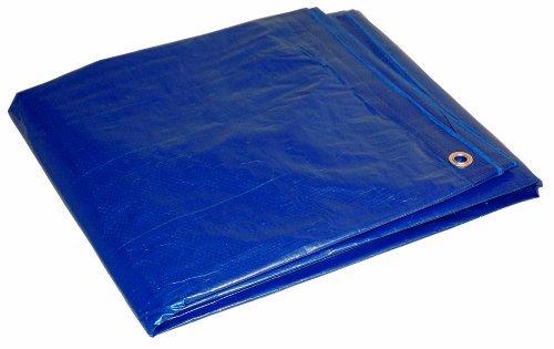 16' x 20' Blue Cut Size 5-mil Poly Tarp item #816204 by DRY TOP