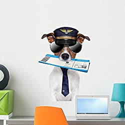 funny dog with flight boarding pass image