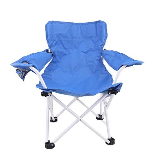 Tokyia Norte de Europa Presidente Slacker Taburete Plegable portátil de Camping al Aire Libre del Taburete Plegable for Barbacoa Pesca del Viaje Garden Beach (Azul)