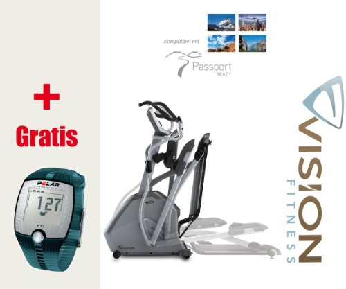 XF40i Elegant Vision Fitness Elliptical Crosstrainer - FT1 Polar Pulsuhr inkl. T31 Polar Brustgurt