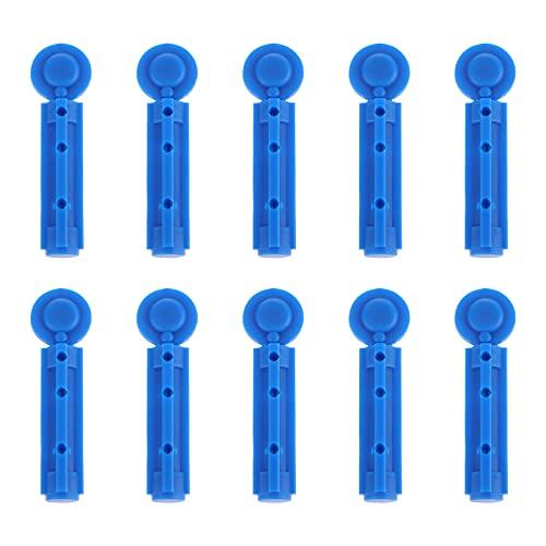 HEALLILY 200 Stücke Einweg Blutlanzetten Universal Kosmetik Lanzetten Blutzucker Stechhilfe für Blutzuckermessung Kapillare Blutentnahme Krankenhaus Sicherheitslanzetten Lanzettiergerät (Blau)