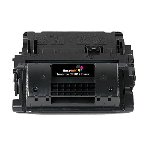 easyink®–Tóner compatible con HP CF 281a Black para LaserJet Enterprise M 604DN, LaserJet Enterprise M 604N, LaserJet Enterprise M 605DN, LaserJet Enterprise M 605N, LaserJet Enterprise M 605x, LaserJet EnterpriseEnterprise M 606DN, LaserJet Enterprise M 606X, Laserjet Enterprise M 630DN, LaserJet Enterprise M 630F, LaserJet Enterprise M 630H, LaserJet Enterprise M 630Z, M, 604m 605, M 606, color negro 1 Toner (Hohe Füllmenge)