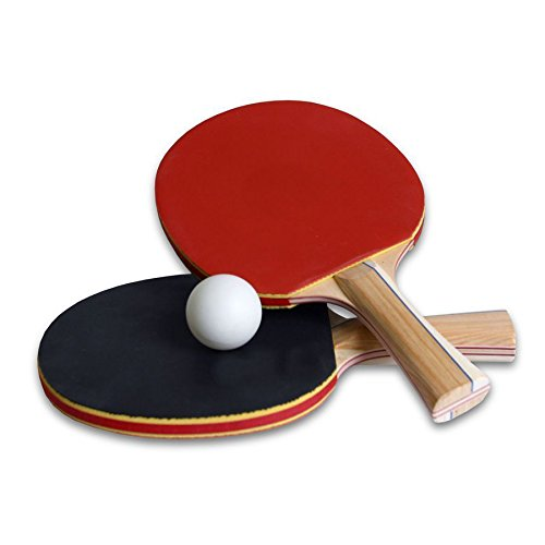 TITATO Table Tennis Racket Set, TT Power Ping Pong Racket Paddle Set with 2 Bats and 3 Balls
