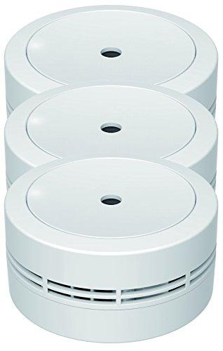 Jeising Mini Rauchmelder GS535 3er Set weiß 10 Jahres Lithium Batterie - VDs geprüft EN14604...