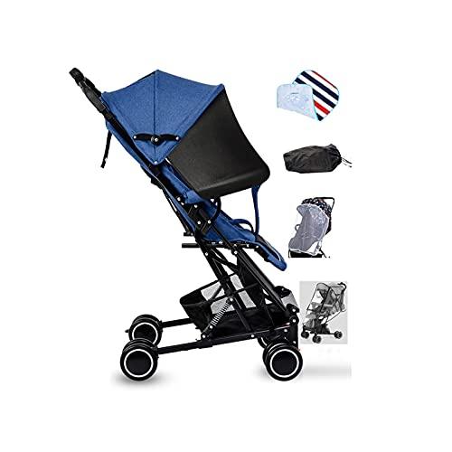 Tokujn Cochecito Compacto Adecuado para niños de 3 a 36 Meses, Peso Ligero, Fácil de Plegar, cinturón de Seguridad de 5 Puntos, Plegado de una Mano, Cesta de Almacenamiento