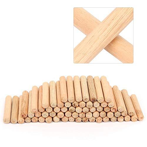 Holz-Passstifte Flute Shank Hamfered Ends für den Bau von Holzverbindungen, 100St(6 * 40mm / 0.2 * 1.6in)