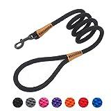 Braided Rope Dog Lead Leashes Pet Leash Dog Traction Rope Leashes Dog Walking Training Lead for Medium Large Dogs (4Feet Black)