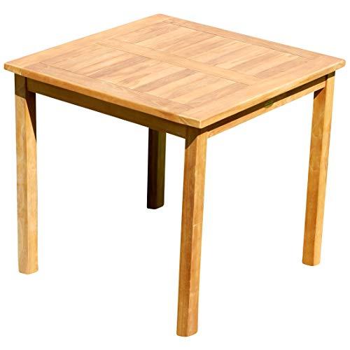 ECHT Teak Gartentische Holztisch Tisch in verschiedenen Größen Serie: Alpen von AS-S, Größe:80x80 cm