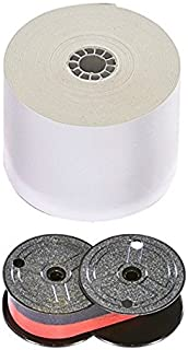 Top of The Line Universal Calculator Paper Rolls and Black/Red Printing Calculator Ribbon Spools with The Darkest Ink in The Industry. Genuine Monroe Products (12pk4pk)