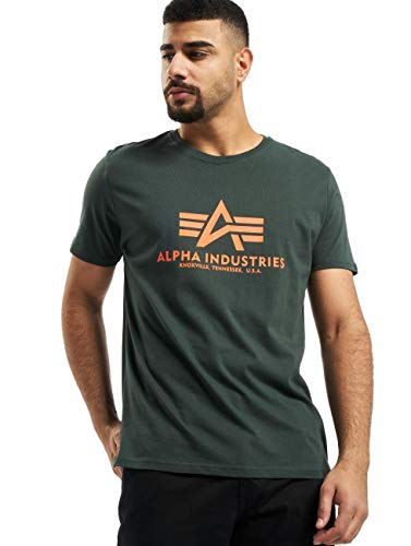 Alpha Industries Basic T-Shirt Dunkelgrün 5XL