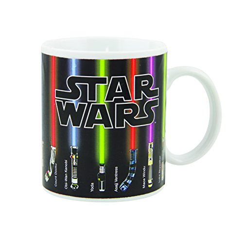 Star Wars Tasse avec Sabre Laser Qui Change de Couleur au Contact de la Chaleur - Multicolore