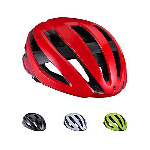 BBB Unisex Adult BHE_09 Cycling Fietshelm Maestro | Helm met Airflow Cooling System | Bike Helmet mannen vrouwen E-Road Casco | Lichtgewicht | glanzend M, rood glans, M | 55-58cm