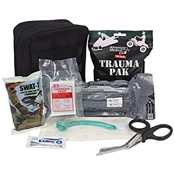 Ever Ready First Aid Meditac Tactical Trauma IFAK Kit with Trauma Pack Quickclot and Israeli Bandage in Molle Pouch  Updated Version Featuring SWAT-T
