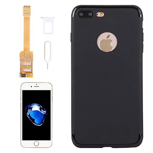 Moonbaby Good Kumishi for iPhone 7 Plus Adaptador de Tarjeta SIM Dual 2 en 1 + Cubierta Trasera TPU con Bandeja de Tarjeta SIM/Pin de Tarjeta SIM