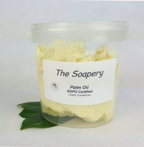 Aceite de palma 1 kg - certificado por RSPO orgánico 100% puro, 1 kg (2x500g)