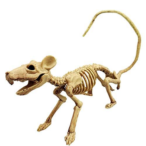 NiceButy Rata de Halloween Esqueleto de plástico Animales Huesos esqueléticos Decoración Esqueleto de simulación de Horror para la decoración de Halloween