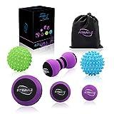 Fitballz Massage Ball Kit for Myofascial Trigger Point Release & Deep Tissue Massage,Set of 6...