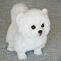 ぬいぐるみポメラニアン犬人形シミュレーション犬動物ペット愛好家のための現実的な家の装飾