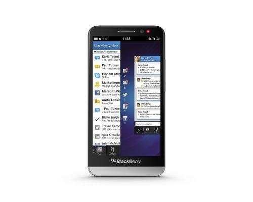 BlackBerry Z30 Smartphone ( 12,7 cm (5 Zoll) AMOLED Touchscreen, 8 Megapixel Kamera, 2GB RAM, 16GB Speicher) schwarz