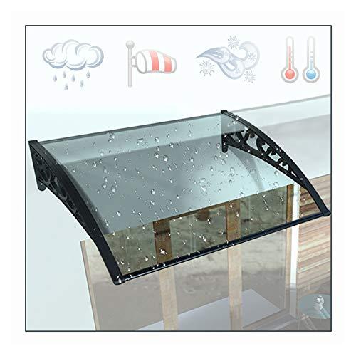 LIANGLIANG Marquesina Toldo, Transmision Luz Fuerte Aislamiento Acústico, Aleación Aluminio Anti-envejecimiento, para Ventanas Terraza Cabina Secado (Color : Transparent, Size : 160x60cm)