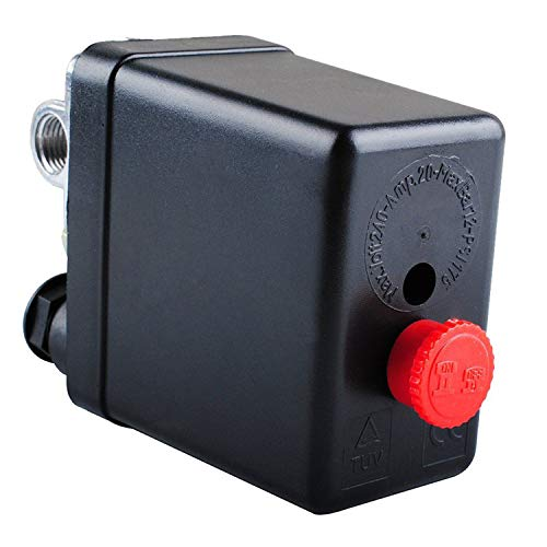 Wadoy Central Pneumatic Air Compressor Pressure Switch Control Valve Replacement for Parts 90-120 PSI 240V