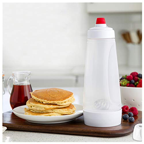 Double End Self-st-anding Pancake Batter Mixer With Heavy Duty Blender Ball Wire Whisk, Cream Blender And Dispenser With 1000ml Scale