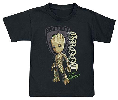 Les Gardiens De La Galaxie Les Gardiens de la Galaxie 2 - Groot Shield Bébé & Enfant T-Shirt Noir 128