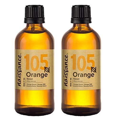 Naissance Huile Essentielle d'Orange Douce (n° 105) - 200ml (2 x 100ml) - 100% pure, naturelle et distillée à la vapeur – végan et non testée sur les animaux