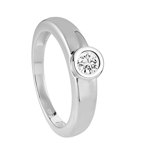 Diamond Line Diamond Line Damen - Ring 585er Gold 1 Diamant, weißgold