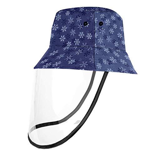 VFSS Weiße Schneeflocken-Schutzmütze, Anti-Spucking, Anti-Speichel, Nasen- und Mundschutz für Männer und Frauen, Mehrfarbig1, Head Circumference 22.6 In(57. 5cm)
