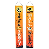 VOSAREA 1 par de Portiere Colgantes Pancartas de Halloween Fiesta Puerta Couplets Halloween Cortina