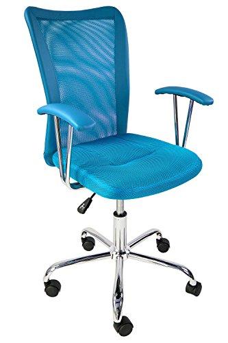 Avanti Trendstore, Sedia girevole, con altezza regolabile, Blu (Blau)