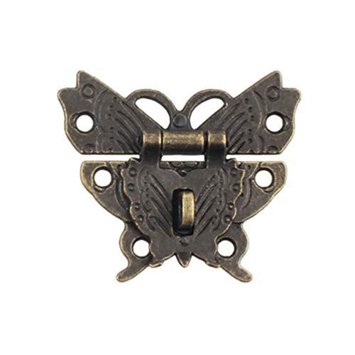 SUPVOX SUPVOX Schatulle Verschluss Antik Bronze Schmetterling Form für Möbel Kasten Dekoration 2PCS