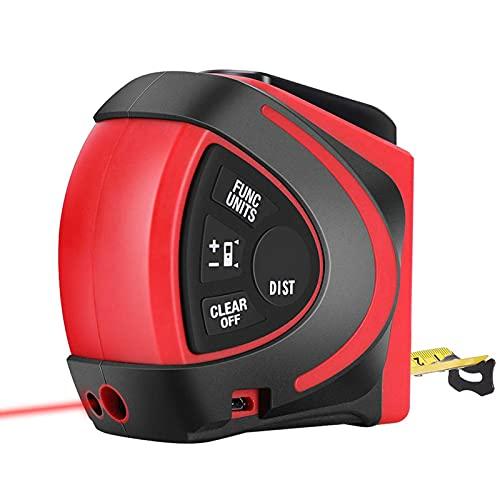 Medidores de distancia láser digitales, cinta métrica láser, medida láser 131 pies / 30 m, cinta métrica 16 pies / 5 m, para medir área / volumen / pitagórica