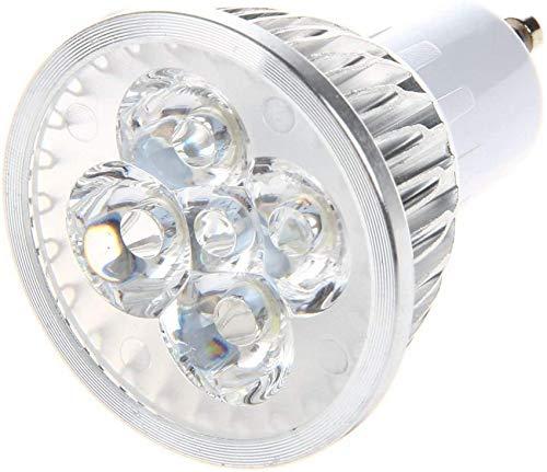 1x Gu10 Blanc 4 LED 6W Ampoule de Lampe Spot à économie d'énergie 220V pour l'extérieur