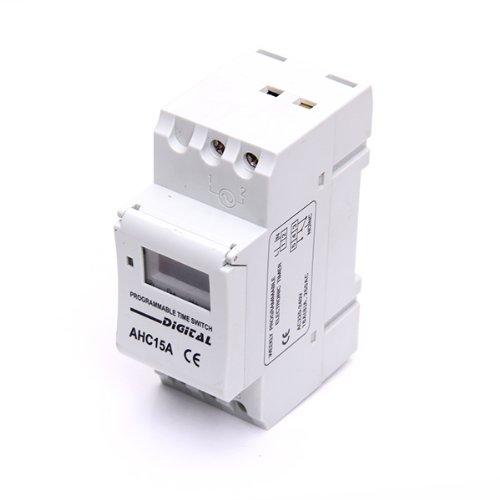 Amuzocity LCD AHC15A Minuterie Programable Interruptor Digital 16A AC 220V 1pc