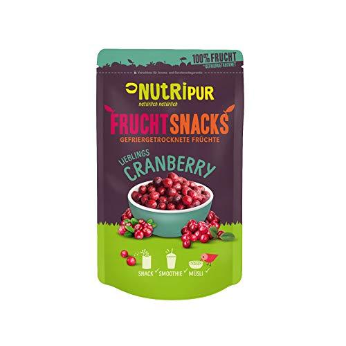 Cranberry gefriergetrocknet 25g I Ganze getrocknete Cranberries ungezuckert I 100% Frucht, voller Geschmack