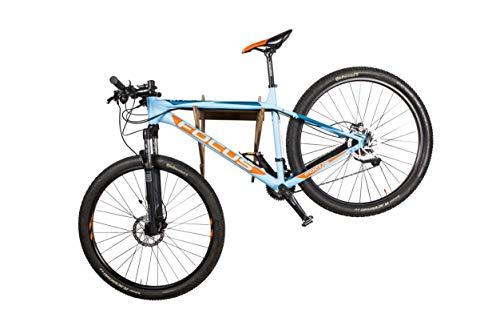 AKR Wood Bicycle Helmet Hanger Wall Mount Indoor Outdoor Garage Wall Mount Sport Bicycle MTB Bike Sport Hanger Rack Stand Wooden Rack (MTB)