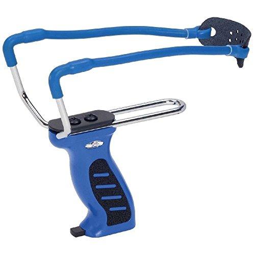 Eva Shop® Premium Schleuder Steinschleuder mit Kugelmagazin präzise Profi Zwille aus Stahl Sportschleuder Futterschleuder extrem Starke Präzisionsschleuder (Profi Schleuder mit Magazin)