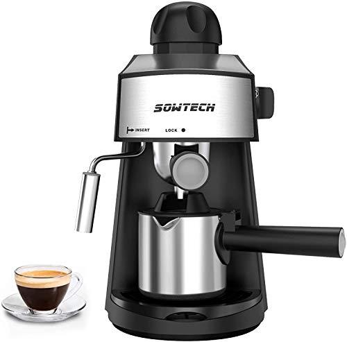 SOWTECH Macchina per Caffè Espresso e Montalatte Acciaio Inossidabile Coffee Maker,...