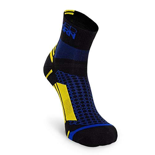 Nordhorn Sportsocken für Herren & Damen, Quarter Sneaker Socken Atmungsaktiv zum Laufen, Joggen, Fitness, Radfahren (Schwarz, 44-46)