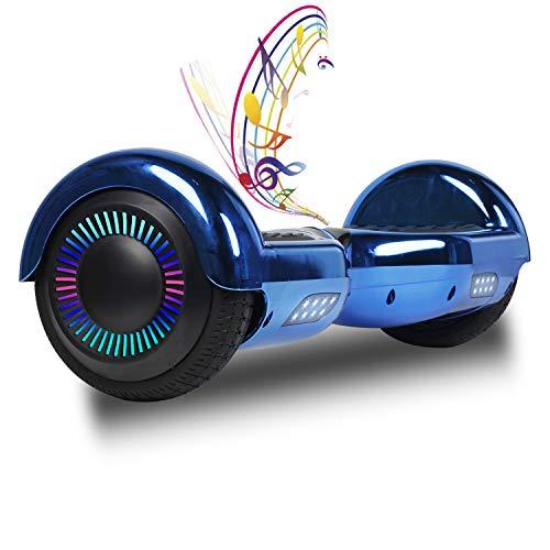 """SISGAD Hoverboard 6.5"""", Eléctrico Self-Balancing Hoverboard Self Blance Scooter con LED Flash Bluetooth Patinete Eléctrico con Motor de600W para Adultos y Niños"""
