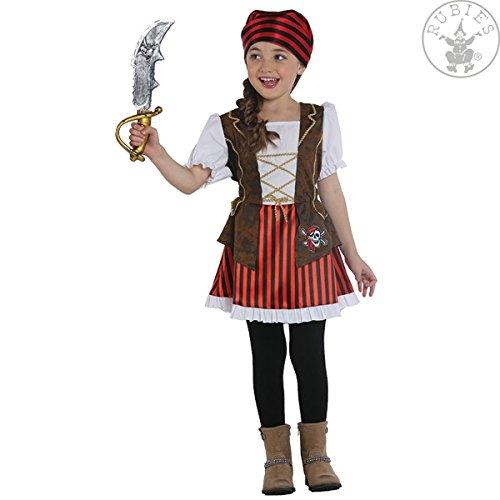Piratenlady Kleid Kinderkostüm Piratin Kinder Kostüm Seeräuber (104)