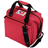 AO Coolers Traveler Original Soft Cooler with High-Density Insulation, Red, 12-Can