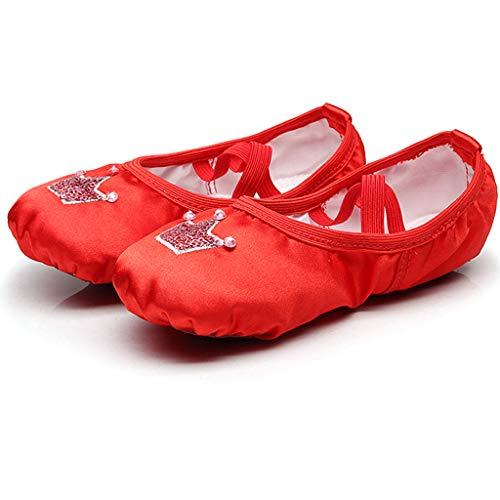 DoGeek Zapatos de Ballet de Cuero Zapatillas de Ballet de Danza Baile Zapatos Yoga para Niños