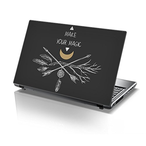 TaylorHe 15,6 inch 15 inch Laptop Skin Vinyl Decal met Kleurrijke Patronen en Lederen Effect Laminaat MADE IN Engeland Maak je Magic