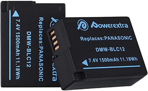 Powerextra - Batería de repuesto para Panasonic DMW-BLC12 DMW-BLC12E DMW-BLC12PP y Panasonic...