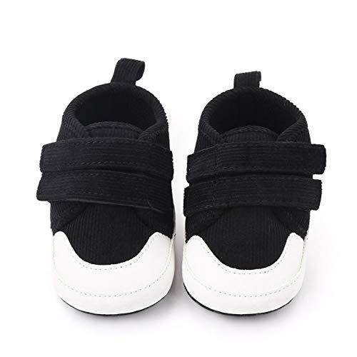 xingxing Zapatos de lona sólidos para bebés y niñas recién nacidos, suela suave, para deportes de 0 a 18 meses (edad del bebé: 9 a 12 m, color: B)
