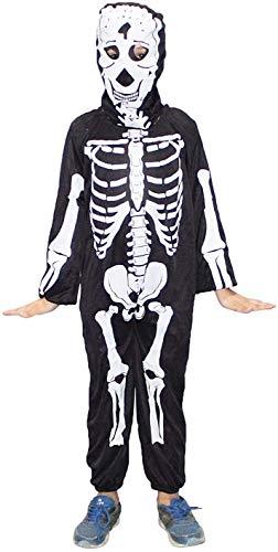 Kaku Fancy Dresses Skeleton Costume,California Cosplay Halloween Costume -Black, 5-6 Years, for Boys & Girls