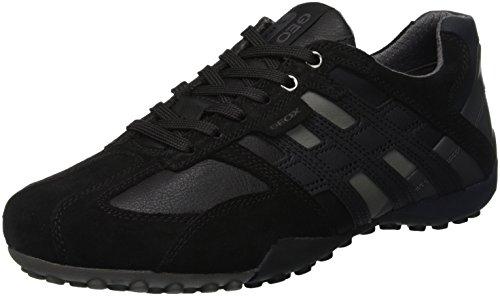 Geox Herren UOMO SNAKE K Sneaker, Schwarz (Black C9999), 39 EU